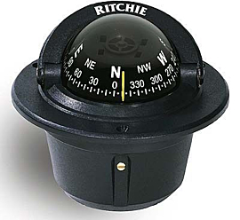 Bussola Maritima Marca Ritchie Explorer Embutir Preta