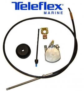 Kit Direção Teleflex com Caixa Safe-T Bezel e Cabo 22 pés - [Safe-T]