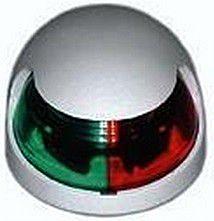 Luz de Navegação de Proa Bicolor Aço Inox de Sobrepor 12V - [Bombordo Boreste Bicolor]