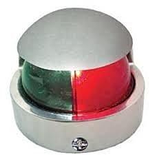 Luz Bicolor Proa Bombordo e Boreste Em Aço Inox 12v / Marine