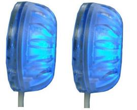 Luz Subaquática Azul 15 Leds Para Barcos Ou Piscinas (par)