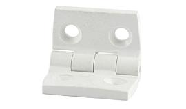 Dobradiça em Plástico ABS 4 Furos cor Branca